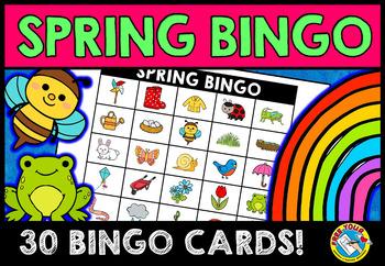 SPRING ACTIVITIES FOR KINDERGARTEN AND PRESCHOOL (BINGO) MAY LITERACY GAME
