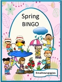 SPRING BINGO Game, Memory Game, Printable,  P-K,K,Special Education, Fine Motor