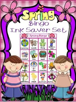 SPRING BINGO INK SAVER CLASSROOM SET 30 UNIQUE BOARDS