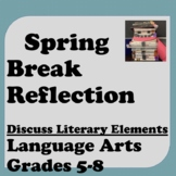 SPRING BREAK Reflection: Literary Elements Small Group Discussion & Writing