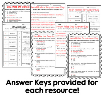 SPRING BUNDLE! - Close Reading Informational Text, Comprehension, and More!