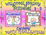 SPRING BUNDLE!  MATH and ELA!  CENTERS  PRINTABLES!  GRADES 3 - 5