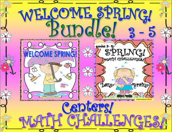 SPRING BUNDLE!  MATH and ELA!  CENTERS  PRINTABLES!  GRADES 3 - 5