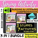 Spring SUMMER BUNDLE Sequencing WH Reading Listening Compr