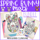 SPRING BUNNY MATS, BUNDLE (ARTICULATION & LANGUAGE) SPEECH THERAPY, EASTER