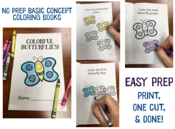 SPRING Basic Concepts Coloring Books: NO PREP!