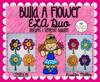 SPRING Build A Flower ELA Duo- Digraphs and Sentence Building