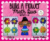 SPRING Build A Flower Math Duo Numbers 1-20