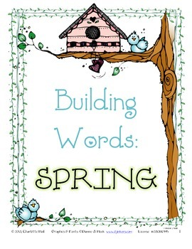SPRING Building Words with Task Cards and Scoot
