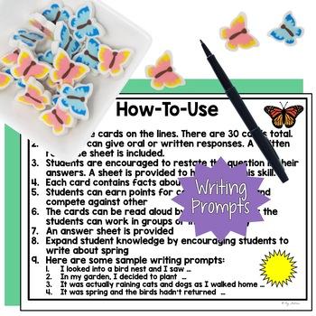Spring Listening Comprehension Cards