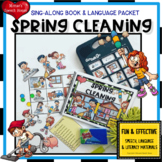 SPRING CLEANING BOOK Pre-K  Early Reader Circle whole group speech-language