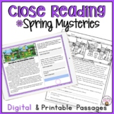 CLOSE READING PASSAGES spring MYSTERIES FOR READING COMPRE