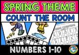 SPRING COUNT THE ROOM (NUMBERS 1-10) APRIL ACTIVITY KINDERGARTEN, PRESCHOOL