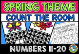 COUNT THE ROOM (SPRING ACTIVITIES KINDERGARTEN) NUMBERS 11-20 MAY MATH CENTER