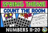 COUNT THE ROOM SPRING ACTIVITY KINDERGARTEN TEEN NUMBERS MAY MATH TEN FRAME 20