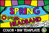 SPRING CRAFT (FLOWERS HEADBAND TEMPLATE)