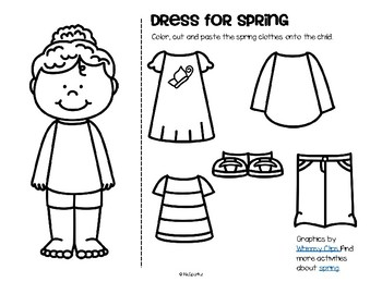 spring clothes cut and paste dress girl and boy free by kidsparkz. Black Bedroom Furniture Sets. Home Design Ideas