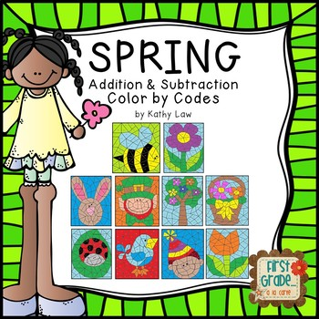 SPRING Color by Codes -- Addition/Subtraction