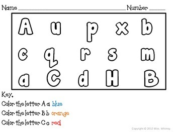 Color by Letters, from A to Z! (Spring Edition)