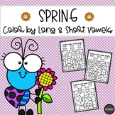SPRING Color by Long & Short Vowel Sounds | DISTANCE LEARNING