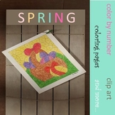 SPRING Color by Number, Coloring pages, clip art and more...