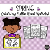 SPRING Color by Suffix {Root Words}
