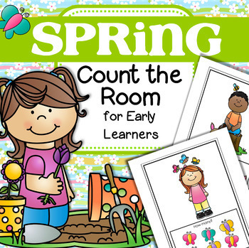 SPRING Count the Room for Preschool, PreK and Kindergarten