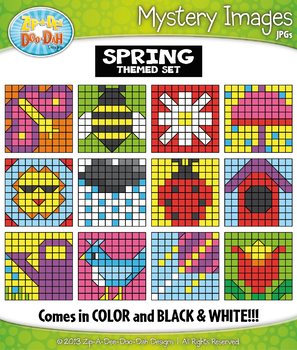 SPRING Mystery Images Clipart {Zip-A-Dee-Doo-Dah Designs}