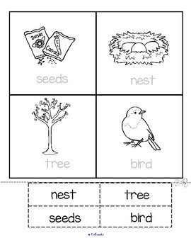 Spring Vocabulary Center and Printables - Children Make their Own Flash Cards