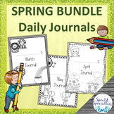 SPRING Daily Journal Writing for Special Education BUNDLE