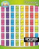 SPRING Dominoes Clipart {Zip-A-Dee-Doo-Dah Designs}
