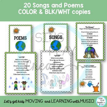 Spring and Earth Day Songs, Poems, Readers Theater