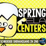 SPRING ELA CENTERS! - 4 Language Arts Centers for 2nd grade!