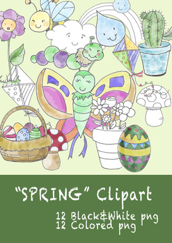 SPRING ELEMENTS CLIPART
