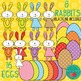SPRING / Easter Clip Art - Birds, Rabbits, Easter Eggs + 24 Digital Papers