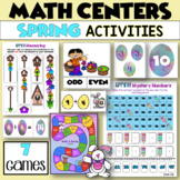 Easter Math Centers - FIVE Addition and Subtraction Games for SPRING