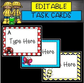 EDITABLE Spring Card Templates (BUNDLE)
