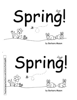 SPRING Emergent Book PACK  4 Books: Spring, Plants, Pond, Earth Day 2 w/ plans!