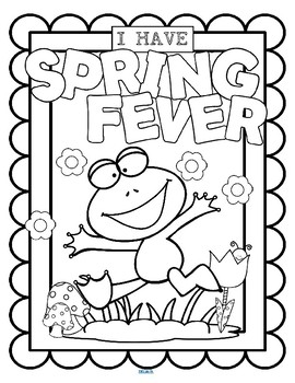 SPRING FEVER Poster to Decorate and Color FREE