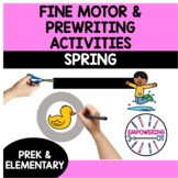 Occupational therapy SPRING FINE MOTOR & VISUAL MOTOR PACK:differentiated