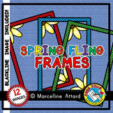 SPRING BORDERS AND FRAMES CLIPART