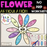 SPRING FLOWER ARTICULATION WORKSHEETS (SPEECH THERAPY, SPRING)