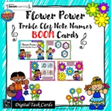 SPRING FLOWER POWER TREBLE CLEF NOTE NAME: BOOM CARDS-DIST