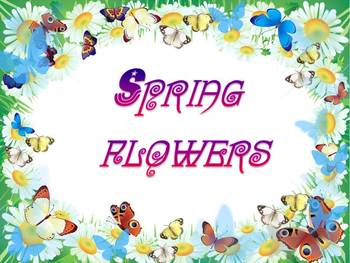 Spring Activities Flowers PowerPoint presentation distance learning