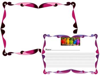 Spring Activities  - Writing Paper - Frames - Birds - Butterfly