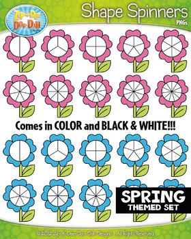 SPRING Flower Spinners Clipart {Zip-A-Dee-Doo-Dah Designs}