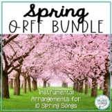 SPRING Folk Song and Orff BUNDLE! 6 Spring Songs with Accompaniment