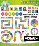 SPRING Game Boards Clipart {Zip-A-Dee-Doo-Dah Designs}