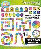 SPRING Game Boards Clipart {Zip-A-Dee-Doo-Dah Designs}