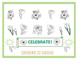 SPRING IS HERE COLORING PAGE!